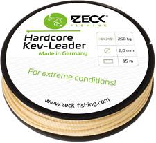 (1m/1,00€) Zeck Hardcore Kev-Leader 2,0 mm 15 Meter Welsvorfach Kevlar Line