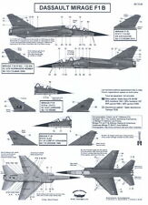 Berna Decals 1/72 DASSAULT MIRAGE F1 B French Fighter Part 2