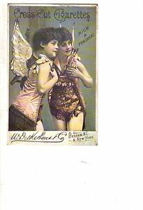 1890 Fairy Cross-Cut Cigarette card - very rare - Extremely nice condition