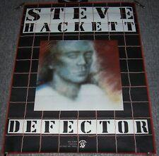 "GENESIS STEVE HACKETT STUNNING RECORD COMPANY PROMO POSTER ""DEFECTOR"" ALBUM 1980"