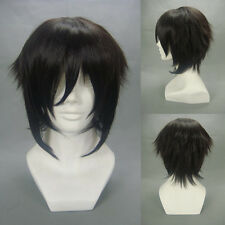 "Layered Black Hakuouki Hijikata Toshizo 32cm 12"" Anime Cosplay Party Full Wigs"