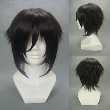 "Layered Black Hakuouki Hijikata Toshizo 32cm 12"" Anime Cosplay Party Full Wigs"