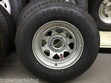 "14"" Radial LoadStar BOAT TRAILER GALVANIZED SPOKE RIM / TIRE COMBO 205/75R14 5H"