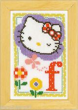 Vervaco 0149528 Alfabeto Hello Kitty - Letra F Kit contado