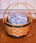 LONGABERGER RARE RETIRED 2000 BEE BASKET JEWELRY POUCH SET- NEW- SHOP STORE !