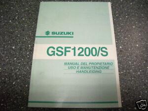 Fahrerhandbuch manual del propietario uso e manutenzione Suzuki GSF 1200 / S K2