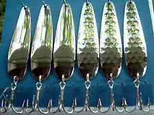 """3 7/8"""" HEX & SMOOTH Variety Pack  Flutter Spoons  NICKEL  Walleye Candy"""