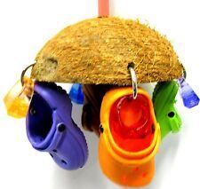 1784 COCO CROC BIRD TOY parrot cage toys african grey cockatoos amazon conures