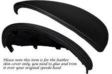 Cuciture grigio in pelle cappuccio SPEEDO copertura si adatta a FIAT Punto Grande ABARTH EVO 10-14