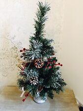 Tabla superior árbol de Navidad Decoración esmerilado verde decorado Abeto Cono de Nieve