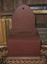 Burgundy Wood Recipe/Spice/Salt Box*Primitive/French Country/Farmhouse Decor*New