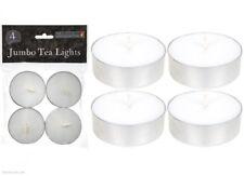 4 JUMBO White Tealights Candles Tea Lights Luxury Spa Weddings Parties UK