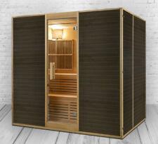 XXL Luxus Infrarotsauna +Infrarotkabine +Sauna Kombi SET inkl. Saunaofen 6 Pers.