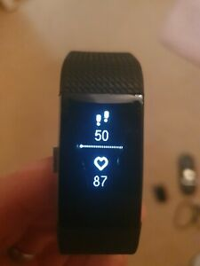 Fitbit Charge 2  Heart Rate Fitness Large Tracking Wristband - Black
