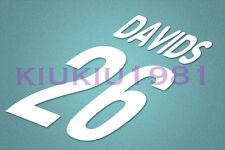 Juventus Davids #26 2000-2001 Homekit Nameset Printing