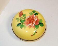 JAPANESE CLOISONNE ENAMEL RED ROSE HUMIDOR JAR BOX