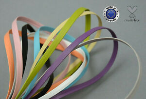 5mm PU Faux Leather Flat Ribbon Trimming Tape Strap Belt Bag Vegan Imitation