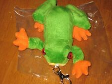 "Soft Plush 5""Frog  Keychain - Cute Fun Amphibian Key Ring Chain Holder"