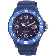 Silicone/Rubber Case Polished Unisex Round Wristwatches