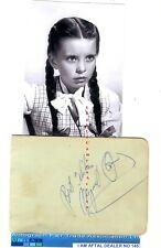 More details for margaret o'brien, loretta young vintage signed page aftal #145