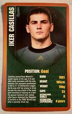 TOP TRUMPS 'European Football Stars' Iker Casillas - Single Card