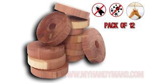 Kontrol 12 pack of 100% Cedar Wood Rings, Moth Rings, Repeller Killer Hanger