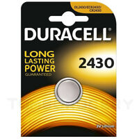 Duracell 2430 DL2430 ECR2430 CR2430 3V Lithium Coin Battery EXP:2026