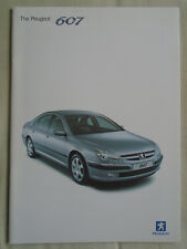 Peugeot 607 range brochure Aug 2002