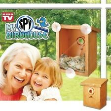 My Spy Bird house, Nest, Clear, acrylic window with 2-way mirror, New