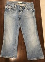 BKE Buckle Distressed Stretch Denim Cropped Capri Jeans Size 28