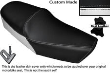 BLACK & WHITE CUSTOM FITS HUONIAO HN 125-8 DUAL LEATHER SEAT COVER ONLY