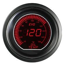 "Blue Red 2"" 52mm Oil Temp Temperature Car Digital LED Light Gauge Meter Celsius"
