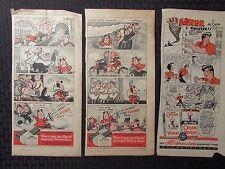 "1940s LITTLE LULU Kleenex & LI'L ABNER Cream of Wheat 5.5x11"" Comic Strip Ads"