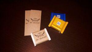 50 x Banderole Schokolade Kraft 1 - Gastgeschenk Give Away Taufe Hochzeit