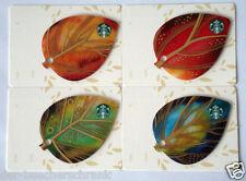 """STARBUCKS CARD """"Autumn Leaves"""" 2015 Germany VHTF - Set of 4 cards / 4 Karten"""