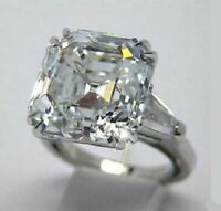 Certified 3.50Ct White Asscher Moissanite Diamond Engagement Ring 14K White gold