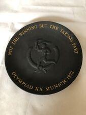 Wedgwood 16cm Black Basalt Plate 1972 Olympic Games Munich Olympiad XX