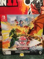 Bakugan Champions Of Vesteoia Poster Video Game Store Display Promo