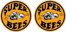 OLD Super Bees SMALL stickers TWO (2) 50 x 50 mm each