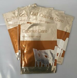 5x Cabinet Care Wood Sheen Wipes, For Buffing Wood and Wood Finishes (5 Pack)