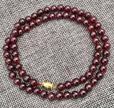 """gem necklace 18 """" Aa Aaa Natural 6Mm Crimson Garnet Round"""