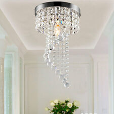 Modern Crystal LED Ceiling Light Fixture Pendant Lamp Aisle Lighting Chandelier