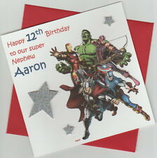 Personalised Marvel Avengers Birthday Card - Son, Brother, Grandson etc