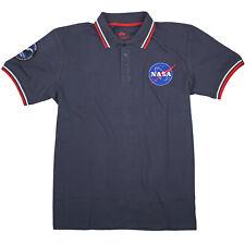 Alpha Industries Herren Poloshirt NASA Polo 186601 07 Replica Blue Blau 6323