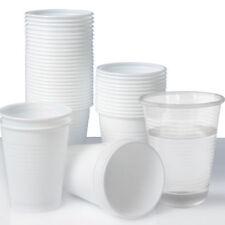 More details for plastic cups 7oz disposable plastic cups water cups white cups / clear cups uk