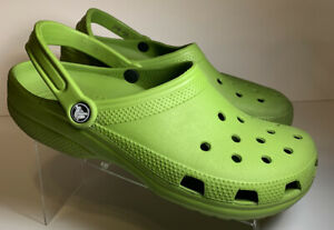 Crocs Sandle Shoe neon green Unisex Adult Size 10 Or Mens 12 Slip On Nurse Clogs
