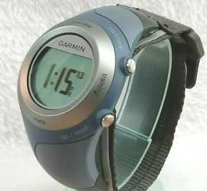 """GARMIN """"Forerunner 405CX"""" Blue/Gray GPS Watch  with Charger 71/4"""" Nylon XX-Clean"""
