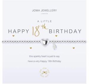 Joma Jewellery A Little Happy 18th Birthday Bracelet & Gift Bag