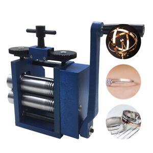 80mm Manual Rolling Mill Machine Metal Gold Silver Jewelry Press Making DIY Tool