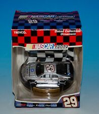 NASCAR 2002 Kevin Harvick #29 Dated Silver Xmas Collectible Ornament Trevco New